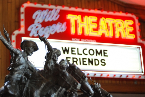 The Will Rogers Memorial Museum in Claremore includes a theater that displays Rogers' movies.  Located along Route 66, the museum offers a nostalgic look at the life of the American icon.