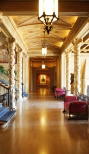 The Philbrook Museum of Art's hallway on the main floor is lined with art galleries and stunning architecture.