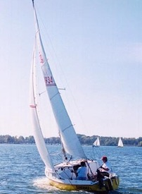 Sailing is a popular pastime on Fort Gibson Lake.