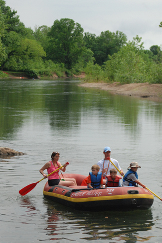 The Illinois River in Tahlequah is a gently-flowing river that can be enjoyed by the entire family.
