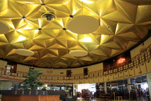 Oklahoma City's iconic Gold Dome is a geodesic marvel inspired by the designs of renowned architect Buckminster Fuller and is considered to be one of the best examples of its type of architecture in the nation.