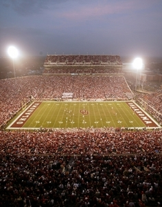 The home field of the OU Sooners is one of America's most recognized college football cathedrals. Situated on the Norman campus, this historic facility is the largest sports arena in the state and ranks among the 15 largest on-campus stadiums in the country and regularly hosts more than 82,000 fans on game days.