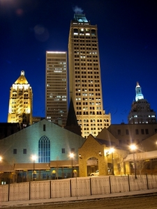 A view of downtown Tulsa skyline from Detroit Avenue.