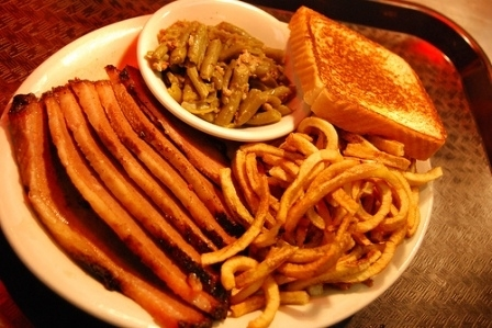 Feast on sliced brisket and chopped barbecue at Van's Pig Stand in Shawnee.