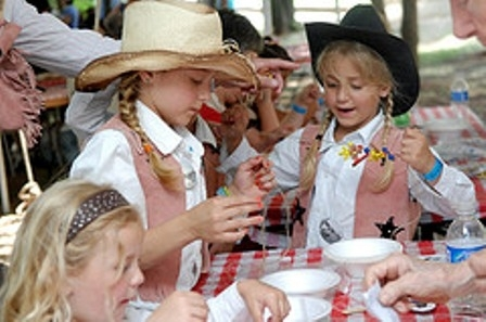 Bring the kids to the Chuck Wagon Gathering & Children's Cowboy Festival for pony rides, bandanna designing, paper fan decorating, coloring and leather crafting.