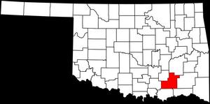 Atoka County in southeast Oklahoma.