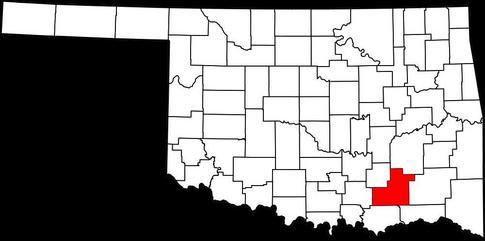 Atoka County in southeast Oklahoma.