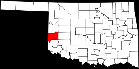 Beckham County in southwest Oklahoma.