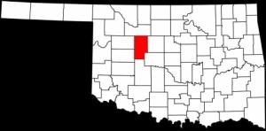 Blaine County in northwest Oklahoma.