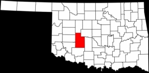 Caddo County in southwest Oklahoma.