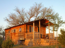 Watch as the sun rises over this adorable cabin at the Hitching Post Bed & Breakfast and Ranch in Kenton.