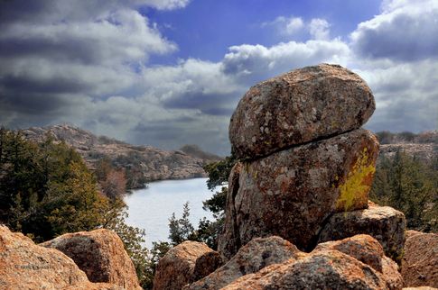 The Charon's Garden area of the Wichita Mountains Wildlife Refuge near Lawton features fascinating rock formations and secluded scenic spots for hikers and boulder hoppers to enjoy.