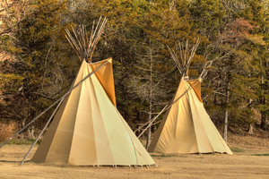 For a unique outdoor experience, try camping in one of the teepees that can be rented at Roman Nose State Park in Watonga.