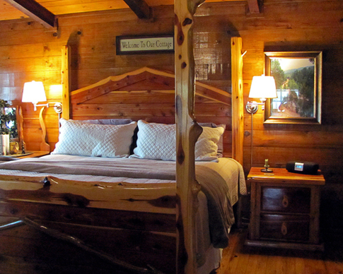 The luxury cabins at Eagle Creek Escape in Smithville are all about romance, seclusion and comfort.
