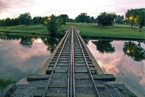 Train rides around Enid's charming Meadowlake Park are available in the spring and summer.