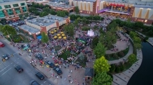 Oklahoma City's Bricktown Entertainment District is thriving with plenty of restaurants, attractions, artwork and entertainment.