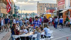 The Claremore community comes together for the monthly Food Truck Thursday food truck event.
