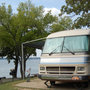 Set up your camper next to Grand Lake at Cherokee Park-Lakeside.