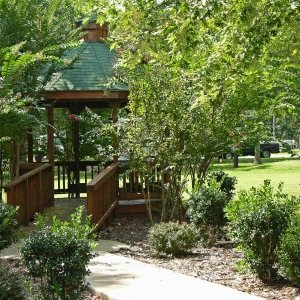 The gazebo at Honey Creek is a popular gathering spot for park visitors.