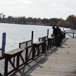 The fishing pier located alongside Horse Creek Bridge.