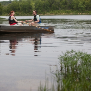 Row along the lake waters at Osage Hills State Park. Photo by Rebekah Morrow.