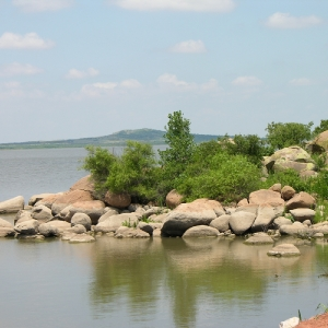 Pay a visit to Tom Steed Lake during your trip to Great Plains State Park. Photo by Keli Clark.