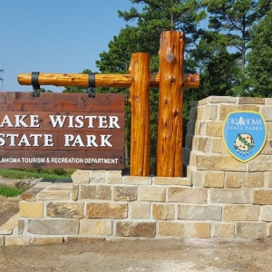 Lake Wister State Park Entrance