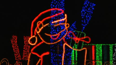 crystal christmas video holiday lights overview video
